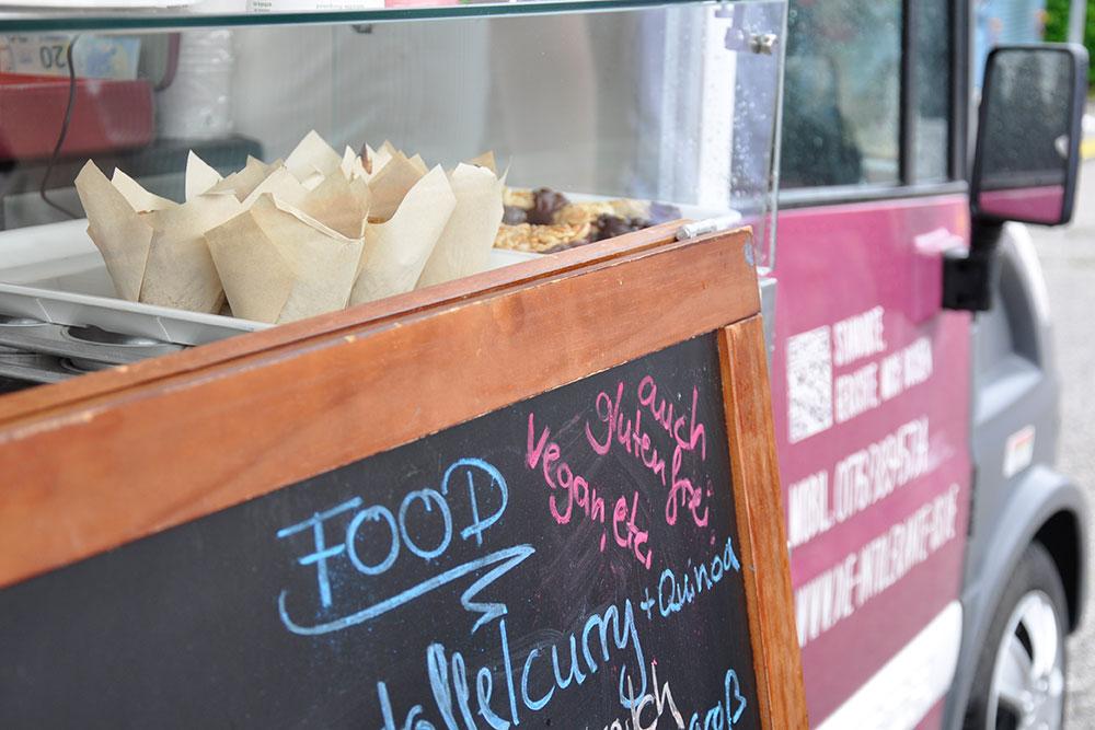 Gerichte und Speisekarte von Hand gemacht