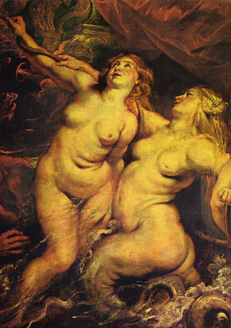 Peter Paul Rubens, Ankunft der Maria de' Medici in Marseille (Detail)